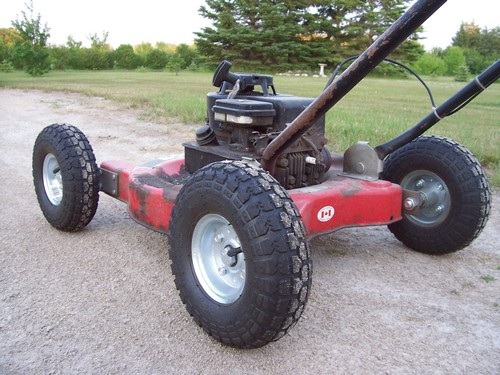 Used snow shovel for lawnmower /how to make a portable ...